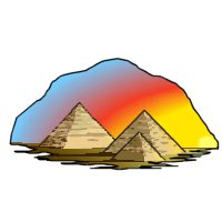 Pyramids are very large objects