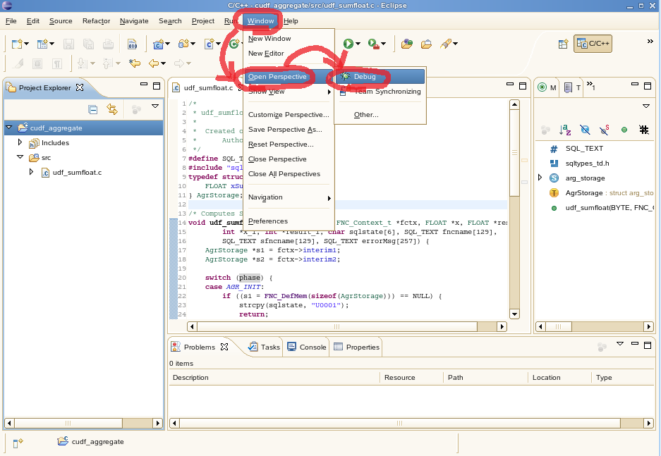 How to Create and Debug an Aggregate CUDF using Eclipse | Teradata
