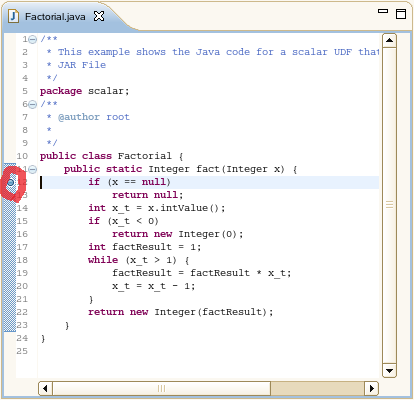 How to Create and Debug a Scalar JUDF using Eclipse
