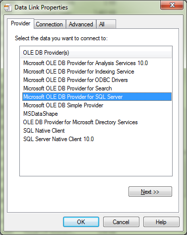Usign microsoft ole db provider for oracle ssis 2012.