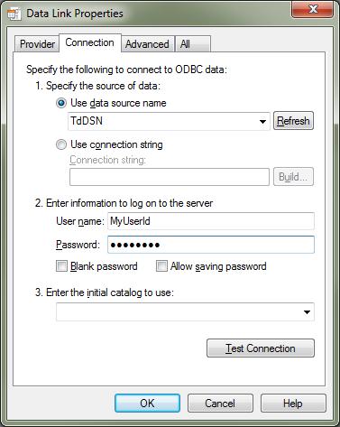 Setup SQL Server 2008 R2 Linked Server To the Teradata