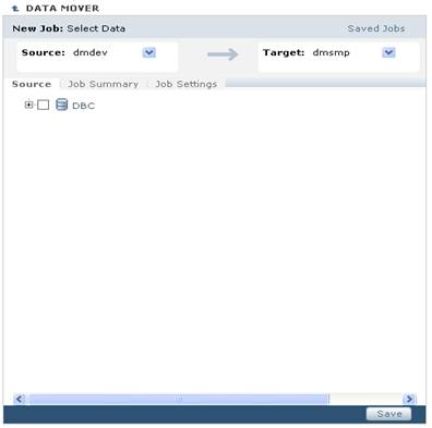 TDM Portlet object browser source_target