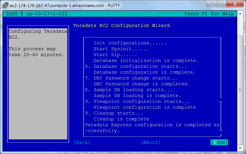 Teradata Express 14 0 for Amazon EC2 Configuration Guide
