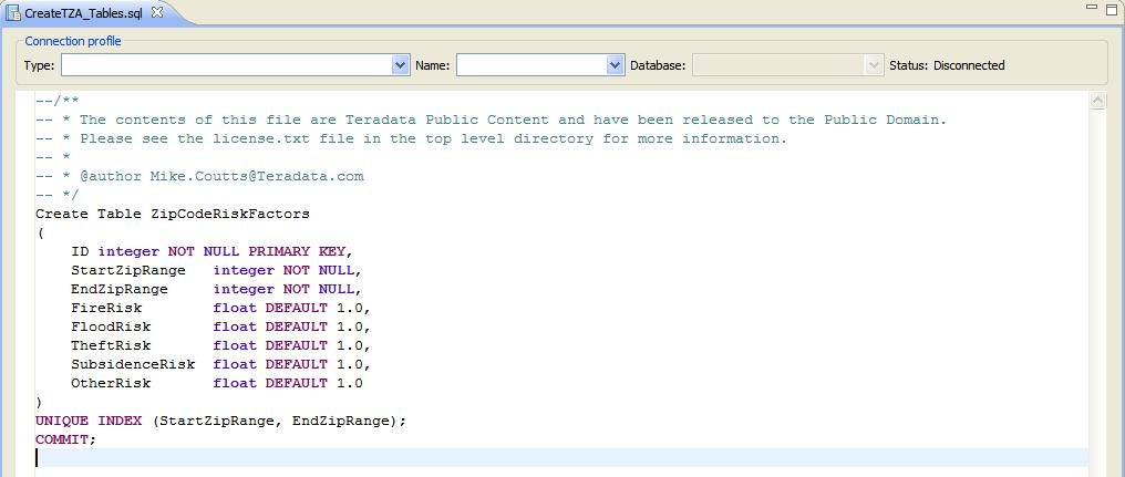 CreateTZA_Tables.sql
