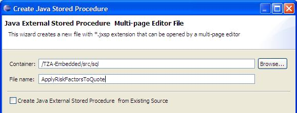 Create Java Stored Procedure