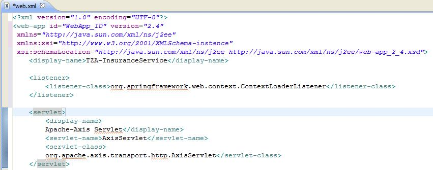 web.xml with Context Listener