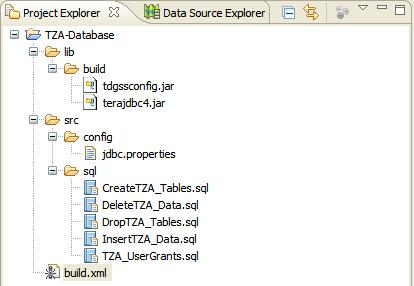 Project Explorer with build.xml