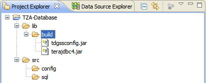 Project Explorer with JDBC JAR's