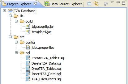 Project Explorer with jdbc.properties