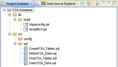 Project Explorer with SQL
