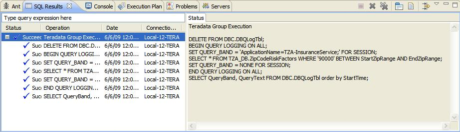 Query Band - Logging Execution
